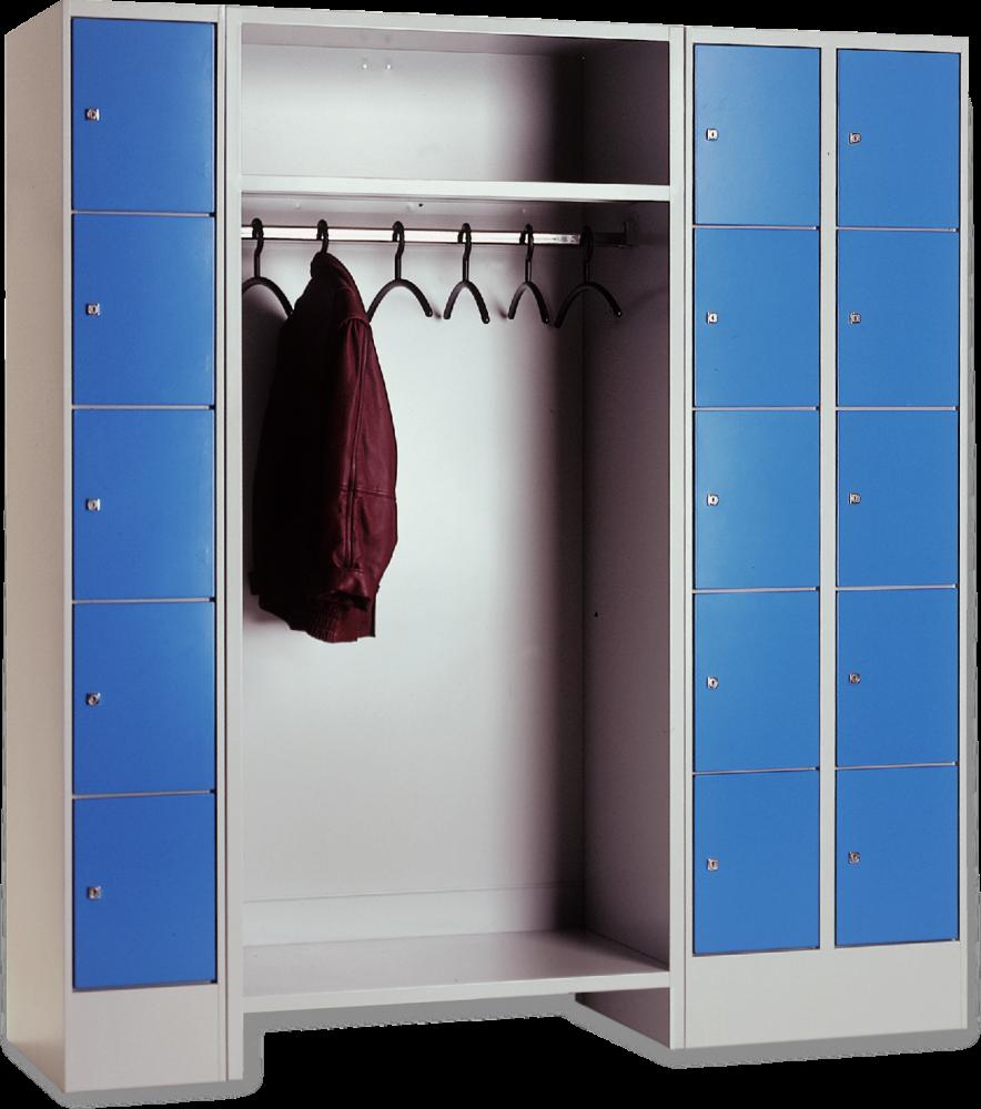offene garderobe kombiniert mit schlie f chern mit r ckwand top premium h he 1950 breite 1200. Black Bedroom Furniture Sets. Home Design Ideas